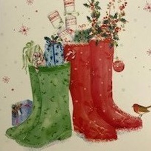 Christmas Card - Festive Wellies