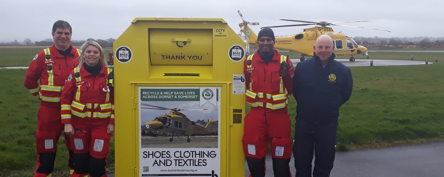 Over £1 million raised for Air Ambulance through Textile Recycling